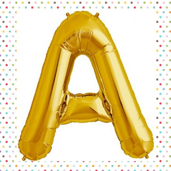 "NORTH STAR 16"" GOLD LETTER FOIL BALLOONS"